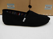 TOMS MENS SHOES CLASSIC CANVAS BLACK ON BLACK SIZE 9.5