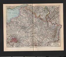 Landkarte map 1926: NORDOST-FRANKREICH. Maßstab: 1 : 2.250 000