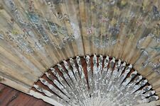 Antique hand fan estate item old decorative accessory