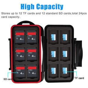 SD MicroSD Memory Card Case Holder Hard Storage Wallet Anti-shock Water XPU