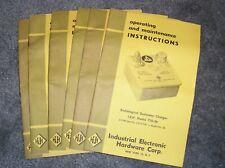 Industrial 750-5B Radiological Dosimeter Charger Operating/Maintenance Manual
