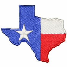 """Texas State Shape Lone Star Flag Embroidered Iron/sew on Patch/Applique 3"""""""