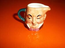 VintAge Artone Miniature Toby Mug Creamer Micawber Double Sided Two-Faced