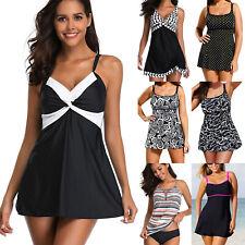 Women Tankini Swim Dress Swimwear Swimsuit Bathing Suit Beachwear Plus Size