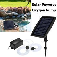 Solar Power Pool Pond Fish Tank Oxygenator Oxygen Aerator Air Pump Aquarium U8C2
