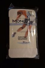 MONDOR + ICE FIGURE SKATING TIGHTS + FOOTLESS + MODEL 3373 + WHITE + SIZE 10-12