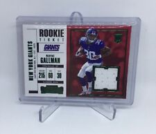 Wayne Gallman #SW-16 [Rookie Ticket Patch] 2017 Contenders Football *HOT*