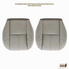 2008 Chevy Silverado Driver & Passenger Side Bottom Leather Seat Cover Gray #833