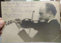 1927 95) FORTE DEI MARMI FOTO AUTOGRAFA DEL GRANDE VIOLINISTA RUSSO JAN HAMBOURG