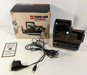 Pana-Vue Automatic Lighted 2x2 Slide Viewer With Cord ~ By Gaf ~Tested & Working