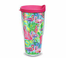 Tervis Tumbler 24 oz Bright Flamingo Bird w Pink Travel Lid NIP