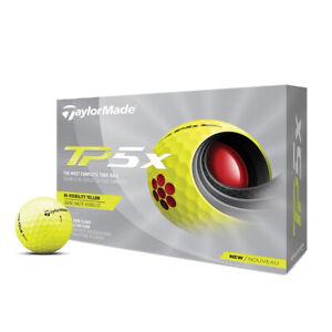 NEW TaylorMade 2021 TP5x Yellow Golf Balls - 12pk - Drummond Golf