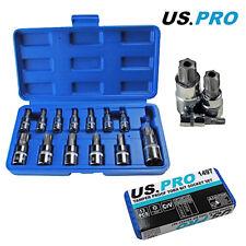 US Pro by Bergen Tools 13pc Tamper Proof Star Bit Socket Set - Security, Torxs