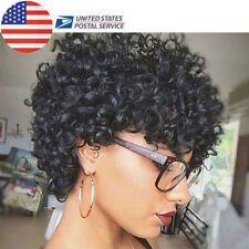 Short Afro Curly Black Hair Pixie Cut Synthetic Wig for African American Women
