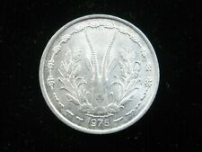 WEST AFRICAN STATES 1 Franc 1975 Mali Ivory Coast Niger Togo Senegal 992# Coin
