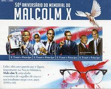 Sao Tome & Principe 2015 MNH Malcolm X 50th Memorial Anniv 4v M/S Stamps