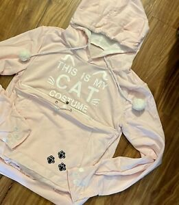 This Is My Cat Costume Hoodie Cat Pouch Sweatshirt Carry Cat Sweatshirt Size M