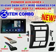 JEEP WRANGLER + TJ 1997 - 2002 DOUBLE DIN DASH BEZEL RADIO STEREO MOUNTING 10KIT