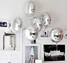 Silver Helium Foil Balloon (45cm/18'') Round-  Wedding/Engagement Foil Balloons