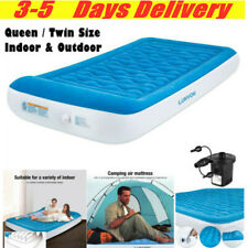 Twin Queen Air Mattress for Home Camping Inflatable Pad Air Bed Portable Blow Up