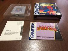 spider - man the amazing  gameboy completo raro mattel  pal  ita