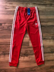 Adidas  Originals youth SST superstar jogger pants size L  Lush Red NWT