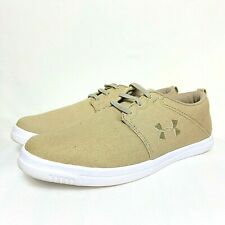 NEW Boys Under Armour Shoes Sneakers Coast Nubuck Brown Suede 1289003-222