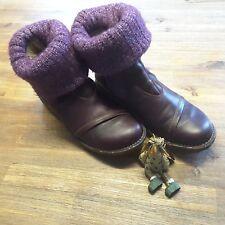 el naturalista, Echtlederstiefel,  Stiefelette, Boots, 41 bordeaux, Strickschaft