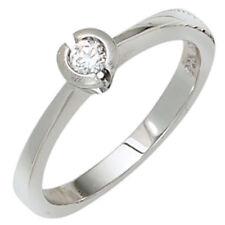 Ringe mit Diamant echten Edelsteinen für Damen (12,0-15,9 mm) Ø 50