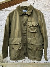 Vintage Polo Ralph Lauren Chore Hunting Jacket Olive Green Corduroy Hunting M