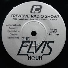 "ELVIS PRESLEY~Memories Of Elvis~Rare Radio Show Promo 7"" Record~CREATIVE #EH-D1"