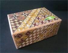 SAMURAI Wooden Yosegi Secret Trick Puzzle Magic Medium Box 12 Step/HK124