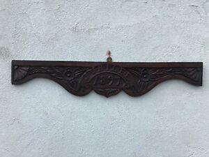"""1897 Jubilee Oak Carving Sign 6"""" X 33 1/2"""""""