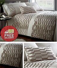 Oyster Cream Velvet Duvet Cover Bedding Bed Set or Cushion or Runner Ripple Soft