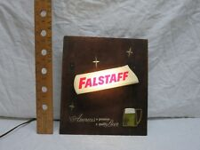 Vintage Falstaff Beer Light Up Sign