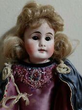 "Antique German W. Goebel bisque shoulder head doll, 15"""
