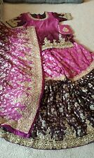 Desi, Indian, Pakistani bridal gharara dress fancy, womens medium
