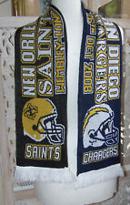 NFL New Orleans Saints  San Diego Chargers Wembley Scarf 2008
