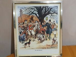 """Norman Thelwell """"The Jolly Huntsman"""" Print - Framed"""