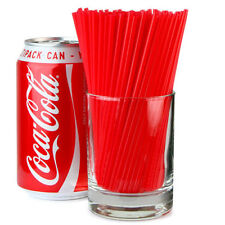 """1500 Sip Slim Straws Red 5"""" Long Cocktail Straw Straight Drinking Bar Pub Party"""