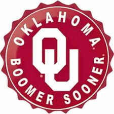 """Oklahoma Boomer Sooners College Licensed Bottle Top Metal Sign 19"""" Made In Usa"""