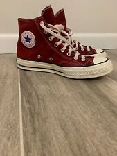 Converse Chuck Taylor All Star 70 Red Burgandy Suede High Top Sneaker Men size 8