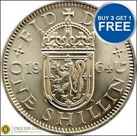 Scottish Shillings !!! ANY YEAR !!! Elizabeth 2nd 1953 to 1966 !!! FREE POST !!!