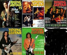Steve Vai on Cover Lot of 5 Japan Magazines Rare! Young Guitar