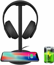 *NEW* Headphone Stand Headset Holder with LED and Wireless Charging- *FREE SHIP*