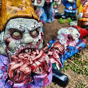 Zombie Gnome Garden Gnome Statue Ornaments Outdoor Decor Unique Dwarf Sculpture
