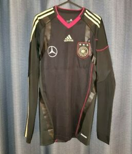 GERMANY Adidas TechFit Player Issue Long Sleeved Football Shirt Trikot 2010 2011