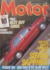 Motor magazine 21/3/1987 featuring Ford Sierra road test, Honda, Peugeot