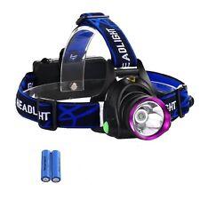 Torcia luce LED frontale lampada da Testa ricaricabile 3 modalità pesca caccia