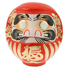 """Japanese 7.75"""" Red Daruma Doll for Luck & Good Fortune Business, Made in Japan"""